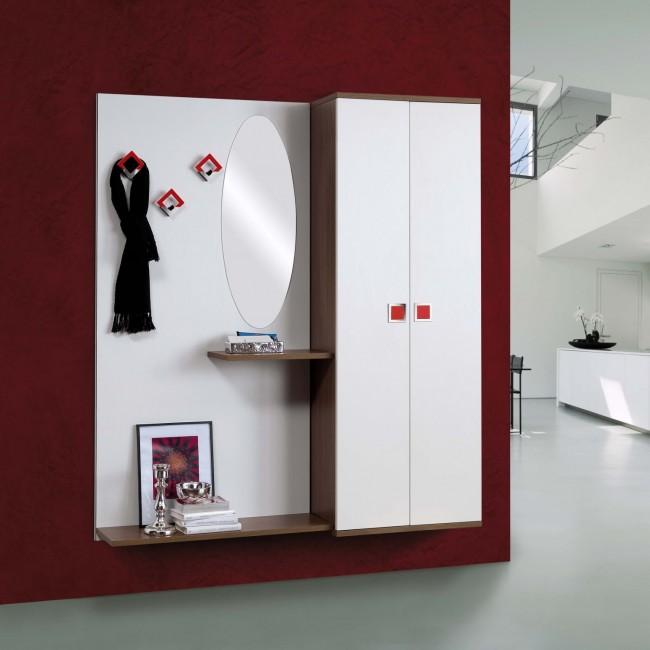 Ingresso a muro con scarpiera e specchiera arredo casa fvg for Arredo ingresso moderno