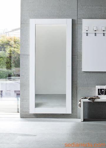 Cinquanta 04 composizione mobile da ingresso in ecopelle diversi colori arredo casa fvg - Specchio cornice bianca ...