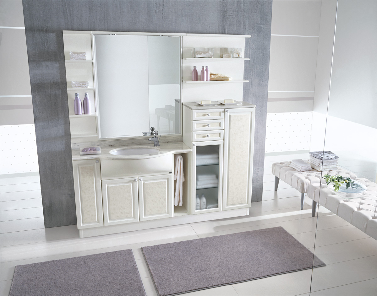 Arredobagno classico bianco rond arredo casa fvg for Arredo e design