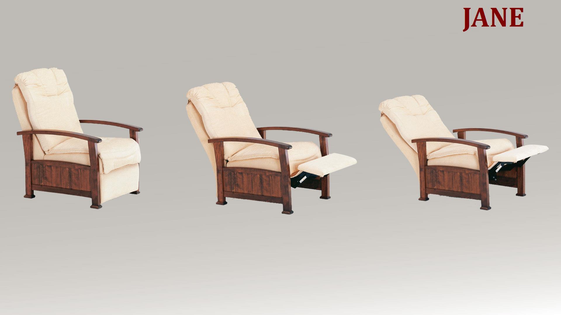 Poltrona relax arte povera modello jane arredo casa fvg for Poltrone relax in legno