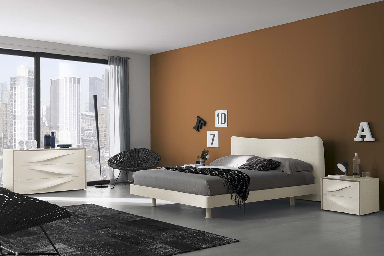 Camera da letto moderna modello 4022 arredo casa fvg - Testiera letto moderna ...