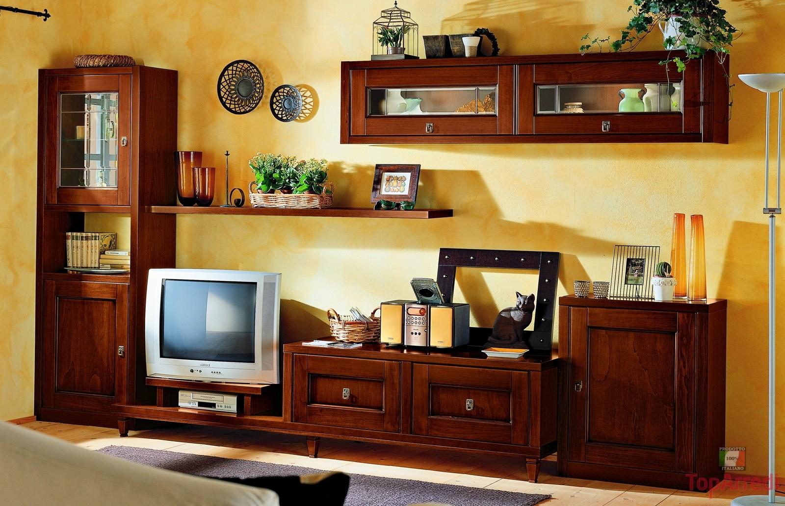 Soggiorno classico modello still arredo casa fvg for Soggiorno in legno