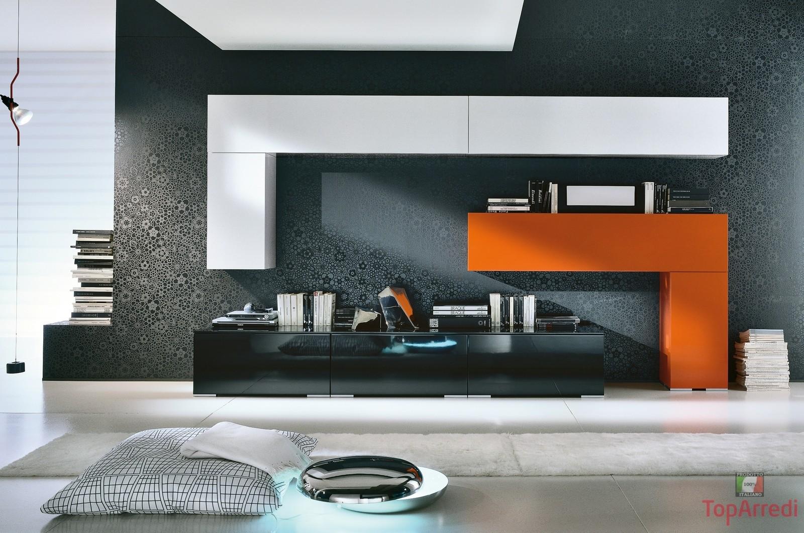 Soggiorno moderno modello lix arredo casa fvg for Salotto arredamento