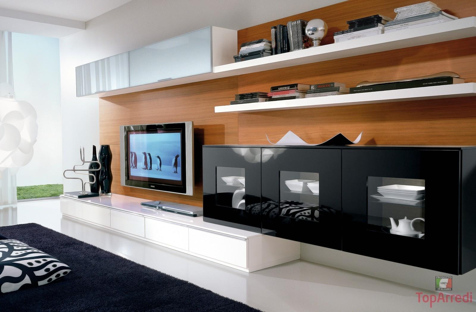 Salotto moderno modello white arredo casa fvg for Soggiorno e salotto
