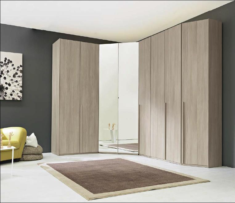 Armadio angolare con cabina modello frangipani arredo for Armadio angolare camera da letto