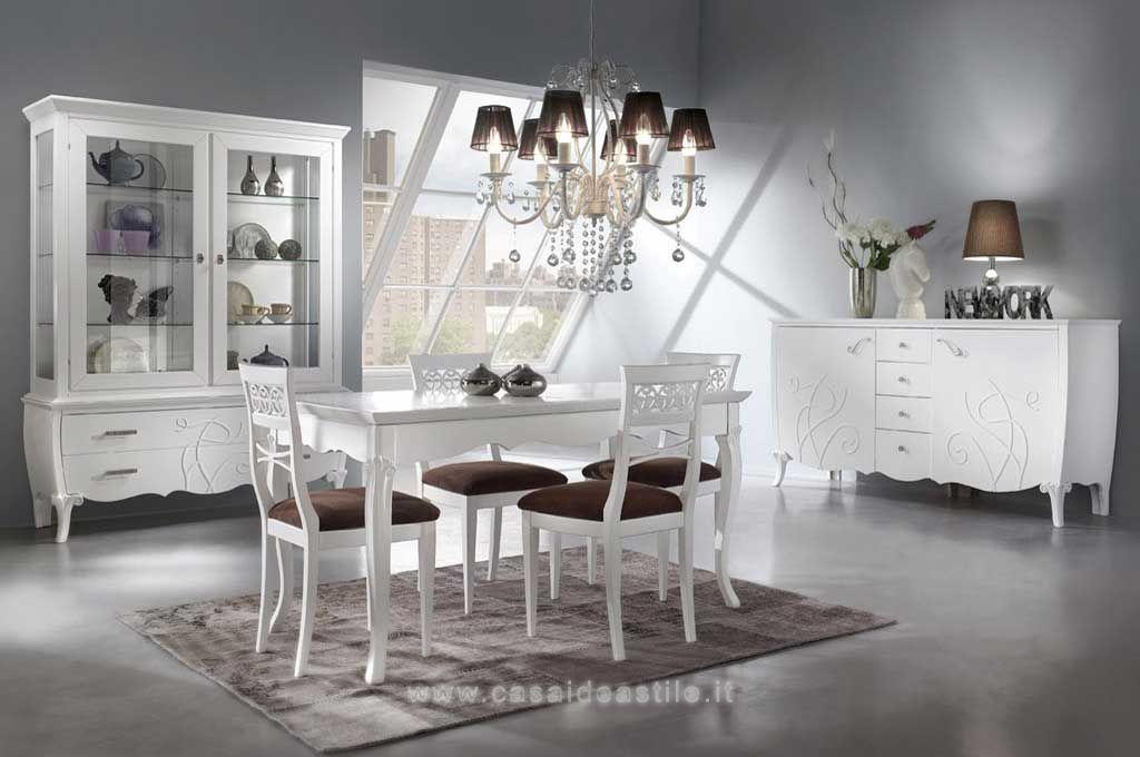 Sala da pranzo con rilievi modello salandini arredo casa fvg for Sala da pranzo stile contemporaneo