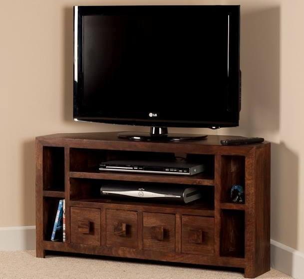 Mobile porta tv etnico legno ad angolo modello von trips for Mobile angolare