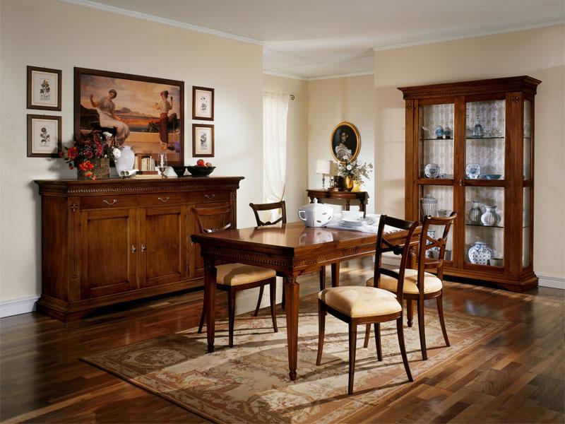 Sala da pranzo modello fangio arredo casa fvg for Arredare sala da pranzo classica
