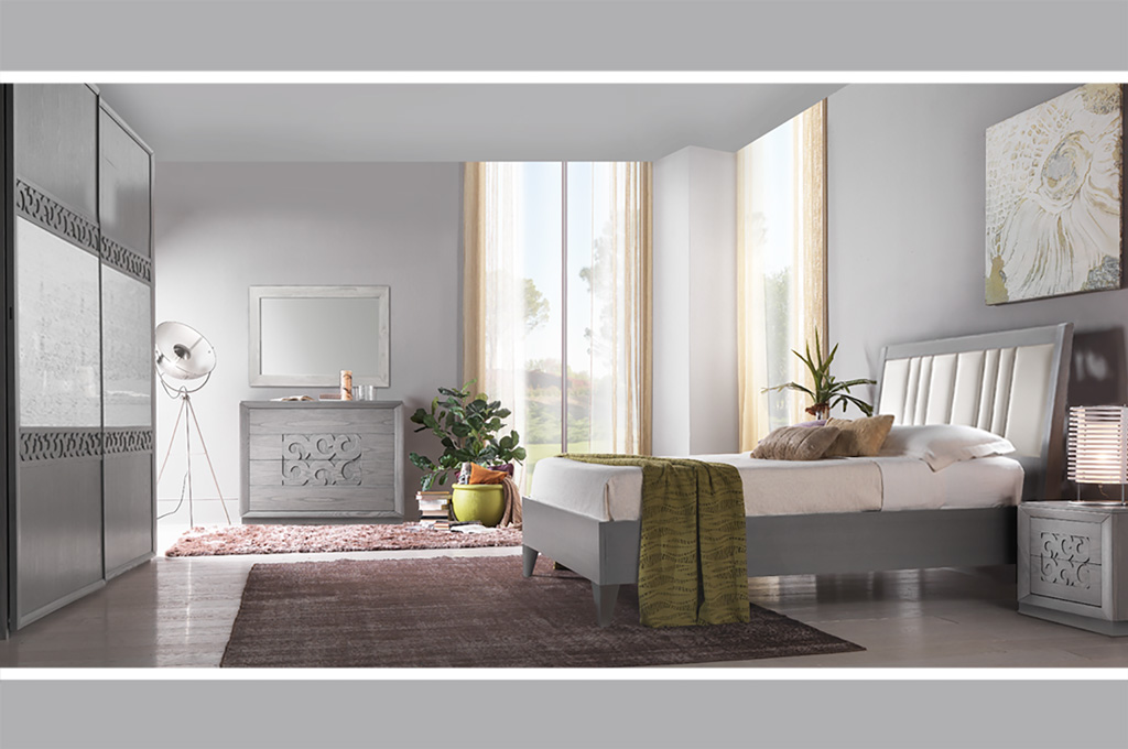 Camera da letto moderna modello adele arredo casa fvg for Camera matrimoniale design
