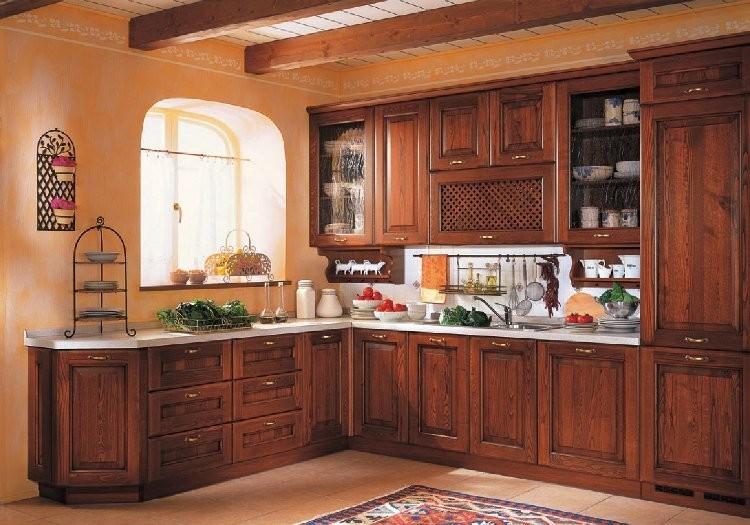 Cucina classica in legno modello ciacola arredo casa fvg for Cucina classica