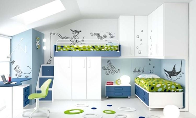 Cameretta mansardata con soppalco modello sappada arredo - Ikea mobili camera bambini ...