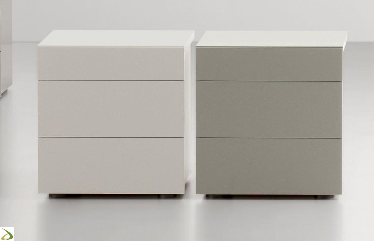 Comodino 3 cassetti Modello Pakman - Arredo Casa FVG