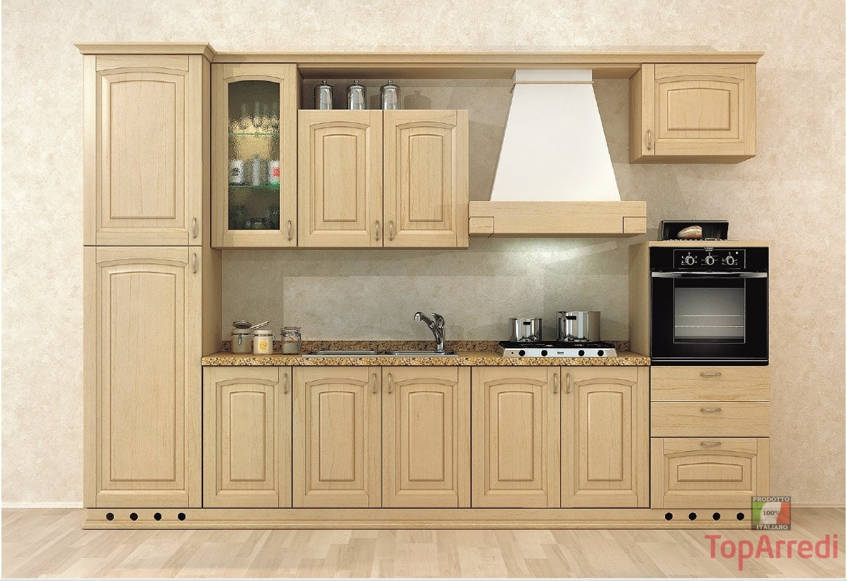 Cucina classica in legno Modello Stregna - Arredo Casa FVG