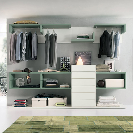 Cabina armadio modello easy arredo casa fvg for Arredo cabina armadio